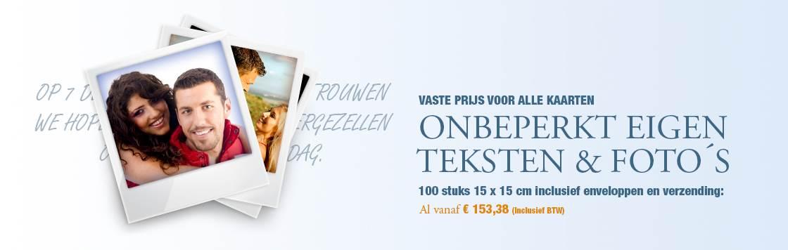 Trouwkaarten met eigen Foto en Tekst